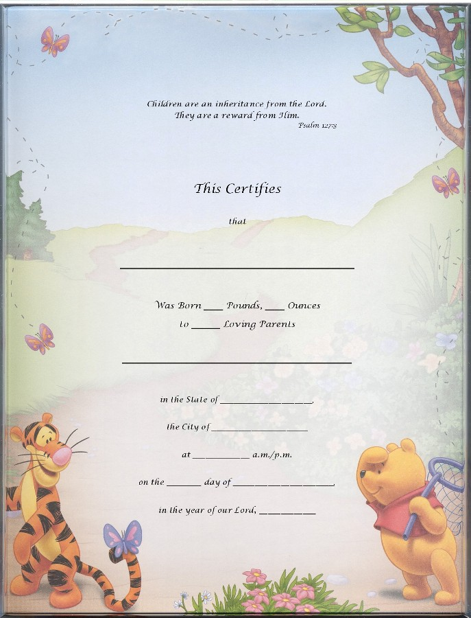 Blank Hospital Birth Certificate Template Blank birth certificates