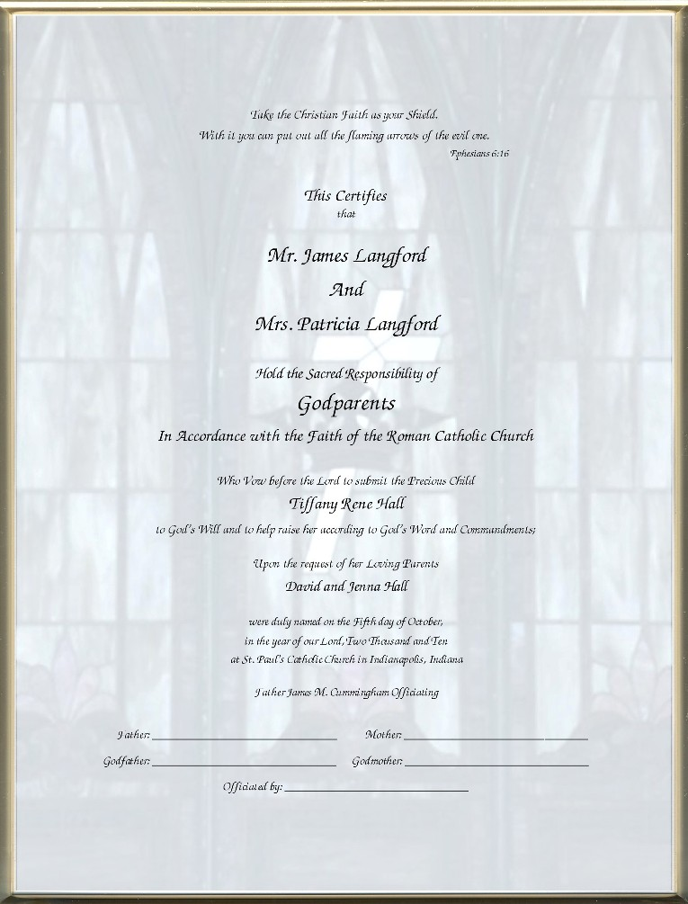 Catholic Godparent Certificates - Page 4 Inspired